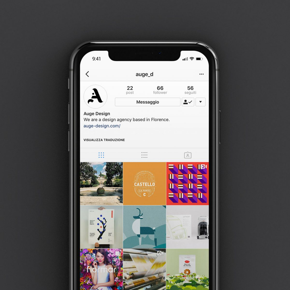 Auge Design lands on Instagram. Follow us!